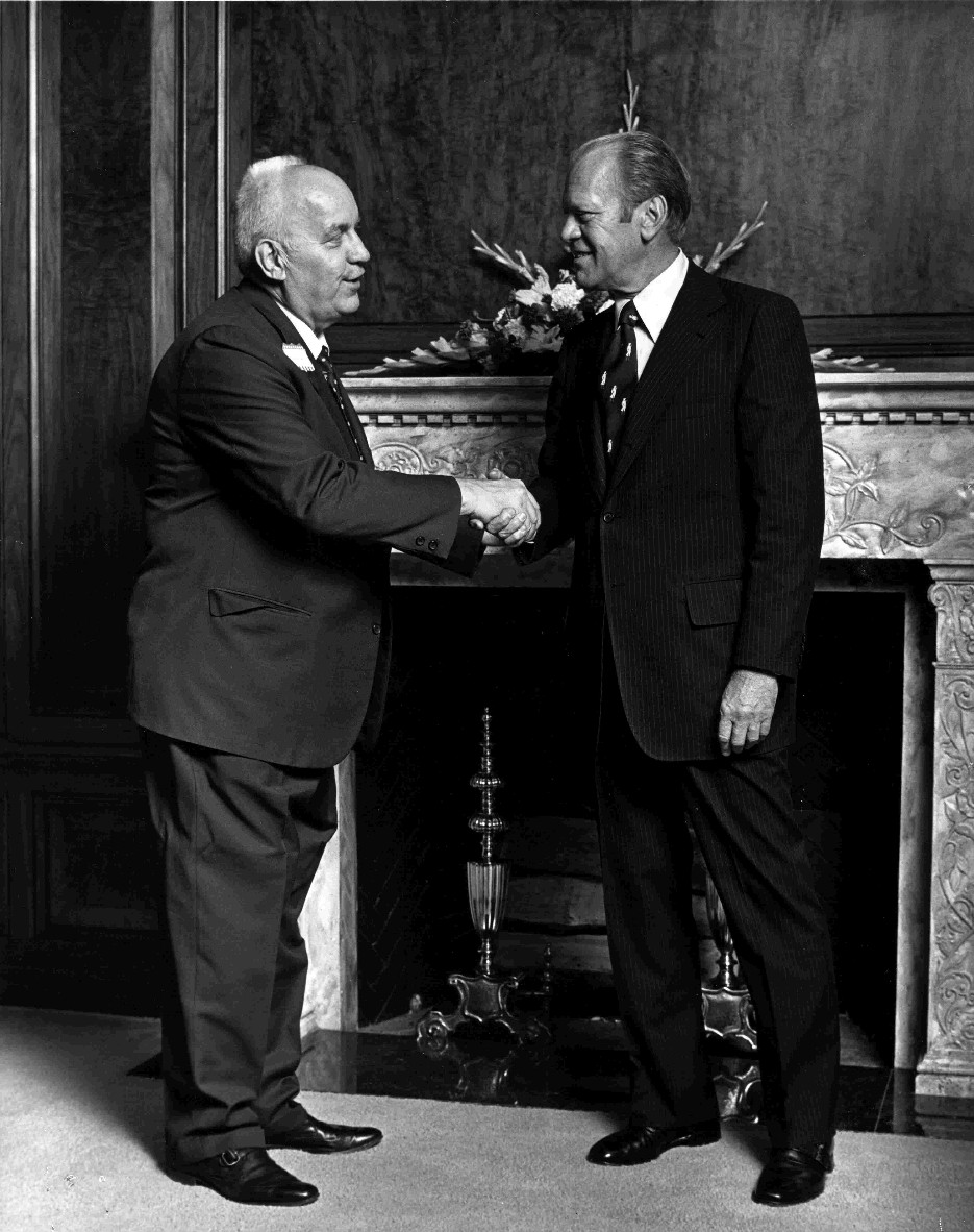 Founder Howard Grimm Meets President Gerald Ford